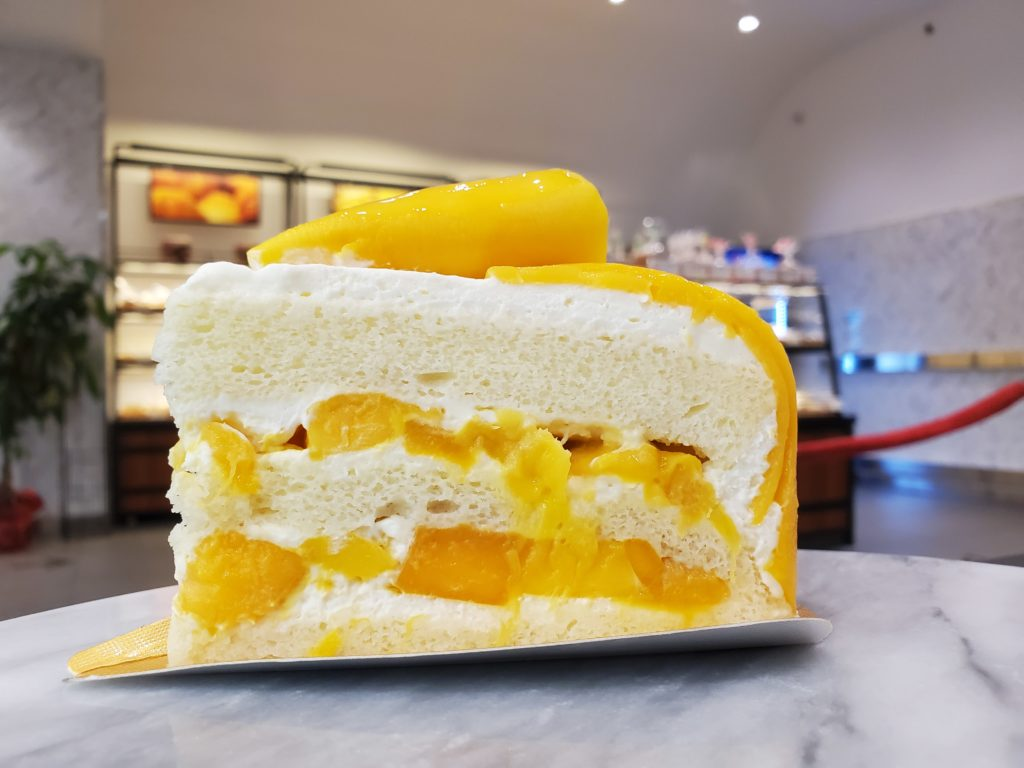 Maxim's Bakery - Fresh Mango cake Slice in Vancouver