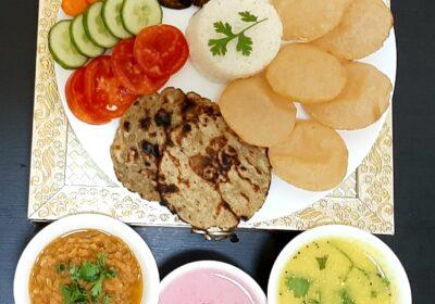Vegetarian Thali - Navratri Special - Chatty Bear Recipe