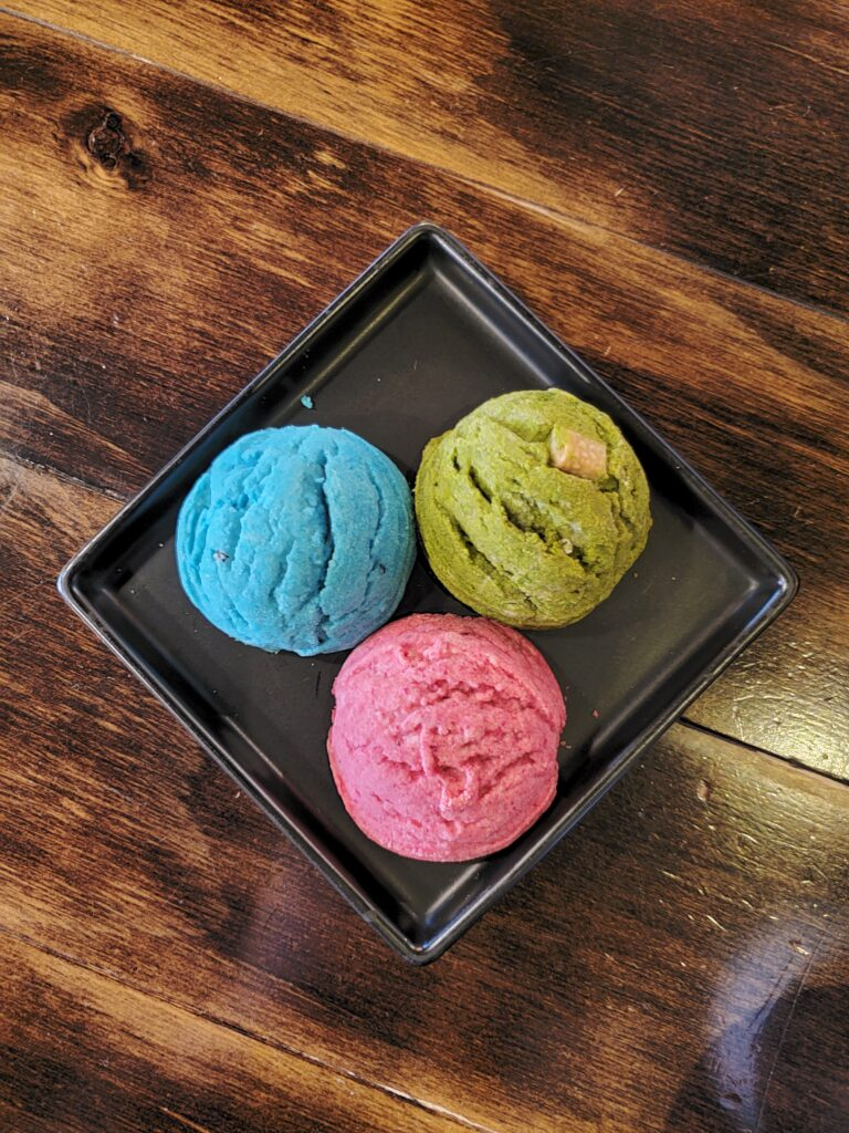 Canadian magazine - Burnaby Coffee shop review - standing egg cookies