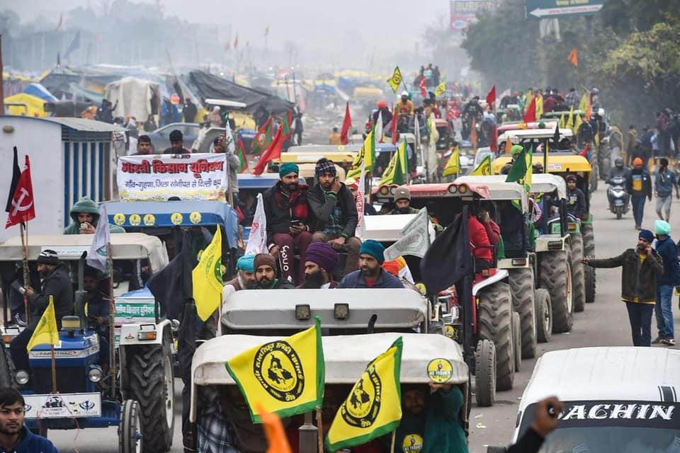 Farmers protest in India against Farm bill
